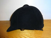 Black velvet horse riders hat