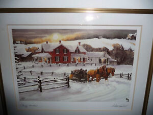 """Walter Campbell """"Country Homestead"""" Country Winter Scene Stratford Kitchener Area image 3"""