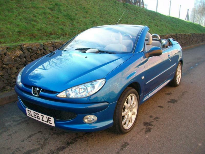 2006 56 peugeot 206 cc 1 6 16v coupe cabriolet allure blue leather low miles in kidderminster. Black Bedroom Furniture Sets. Home Design Ideas