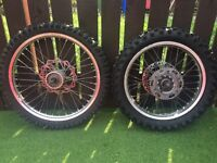 Crossa wheels and tyres YZ/CR/RM/KX