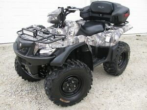 2014 CAMO 750 kingquad with power steering.