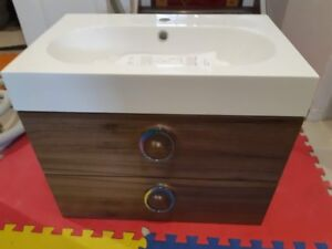 brand new Vanity with sink wall hang style. 23 1/2 inch wide.