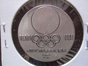 1964 Tokyo Japan Olympic Sterling Silver Medal With COA