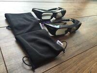 2X Sony TDG-BR250 3D Glasses for Bravia HX850 HX900 HX909 TV 2010-2012 Models