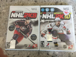 NHL 2K9 and 2K10 Wii