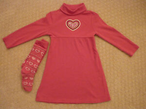 Girl's Gymboree Dress & Tights - size 5