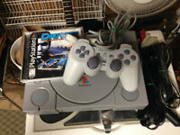 Playstation 1 Console with Driver