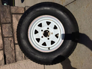 185/80/13 trailer wheel and tire