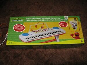 Sesame Street Keyboard with stool and microphone