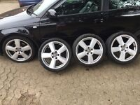 "Genuine 18"" Audi alloy wheels x4"