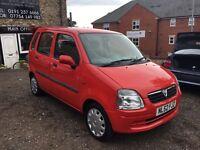 2002 Vauxhall Agila 1.0 estate 5 Door Red, Petrol, Only 51k Miles, 12 MOT,