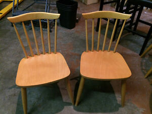 Maple dining chairs