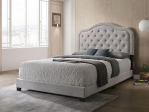 BEDROOM ITEM- DOUBLE SIZE PLATFORM BED WITH MATTRESS