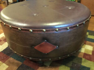 Large Pleather Coffee Table / Ottoman