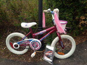 "Girls 16"" Bike with Basket and Streamers Great Condition"