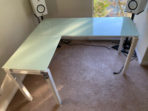 Pair of glass desks