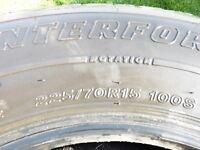 pneu hiver 225-70-15 firestone winterforce 12/32