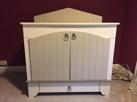 Handmade baby changing table - grey & cream