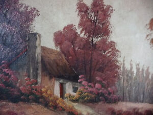 New England Fantasy Oil Painting by Joseph Collazzi 1930's Stratford Kitchener Area image 4