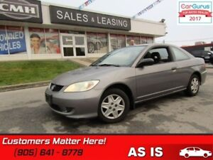 2005 Honda Civic Coupe SE  AS TRADED *UNCERTIFIED*