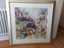 Large framed and mounted floral picture 90cms x 90cms