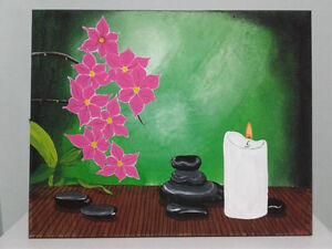 Zen acrylic original painting