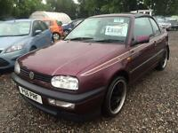 1997 VOLKSWAGEN GOLF 1.8 CONVERTIBLE FULL LEATHER UPGRADED ALLOYS LOW INSURANCE