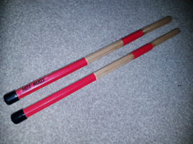 Hot rods. Drum sticks. Drum kit drumming accocories