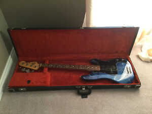 Squier bass guitar -custom painted