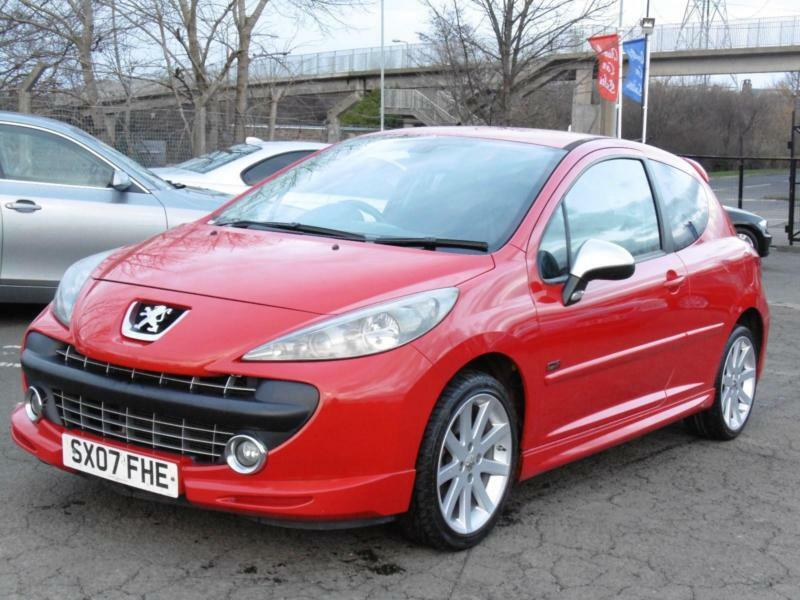 peugeot 207 1 6 thp 175 gti red 2007 hatchback 73 000 miles just serviced in portobello. Black Bedroom Furniture Sets. Home Design Ideas