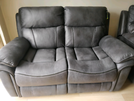 Brand New Two Seater Reclining Sofa - Mint Condition