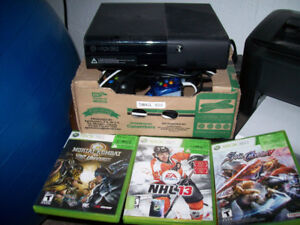Xbox 360 fully loaded with memory and games