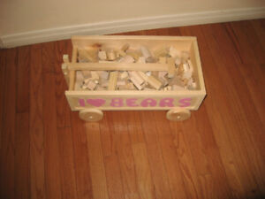 Melissa & Doug Wooden Blocks Construction Sets Alphabet Blocks