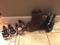 Girls' shoes and boots for sale. Sizes 9 and 10