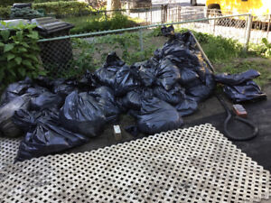 dirt and soil combo, about 30 bags at 50lbs each, fill pool
