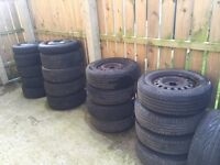 3 SETS OF 15 INCH TYRES 195//65//15