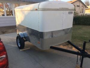 Enclosed trailer, bed slide, tools box