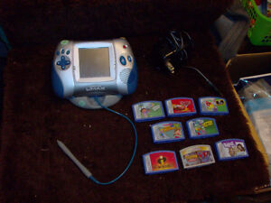 LEAPSTER L-MAX SYSTEM WITH 8 GAMES AND ADAPTER LEAP FROG Windsor Region Ontario image 1