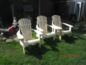 muskoka chairs   each one left