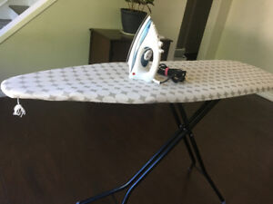 Good condition iron and ironing board
