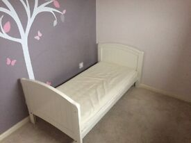 Cot bed (bed only) and mattress