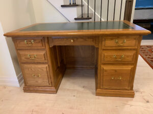 Solid Oak Executive Desk - Canadian Made - West Brothers