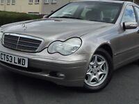 REDUCE!! £1995.00*2003 (53) MERCEDES C200 KOMP.CLASSIC SE A AUTO 1.8 PETROL*2 KEYS*P/X WELCOME.