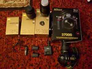 NIKON D7000 with 3 lens