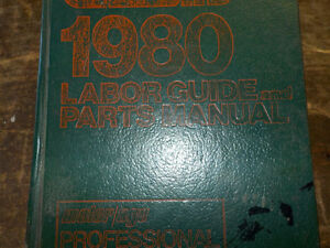 1980 Chiltons Labor and Parts guide