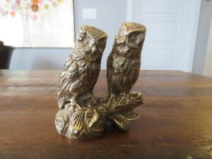 Brass Owls on a Branch