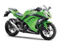 Kawasaki BX 250 AFF Ninja 250 Green Ex Demonstrator 40 Miles Dealer Maintained