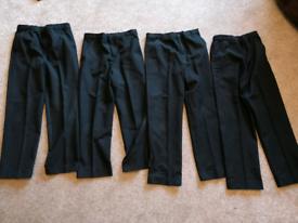 4 x Age 10 boys Black school trousers. (shorter length)