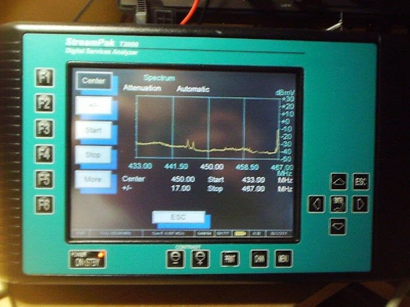 T2000 PORTABLE SPECTRUM ANALYZER 49-900 MHZ