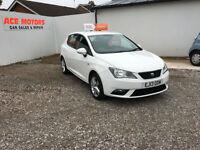 2013 SEAT IBIZA 1.4 16V TOCA 5 DR 84 BHP,PORTABLE GARMIN SAT NAV MP3,